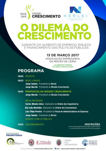 O DILEMA DO CRESCIMENTO 13/Mar